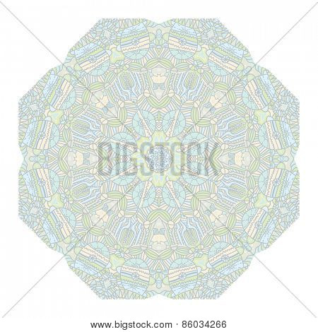 Mandala Round Ornament Pattern Vintage decorative elements Hand drawn background