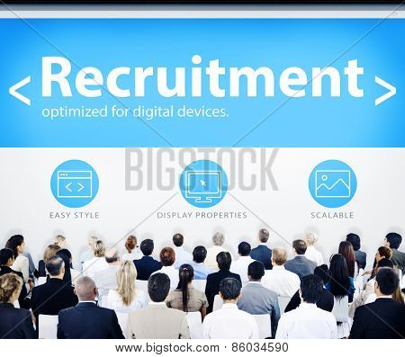 Business People Recruitment Web Design Concept