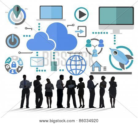 Big Data Sharing Online Global Communication Cloud Concept