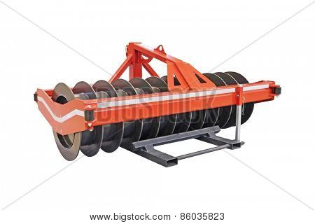 Agricultural machinery isolated under the white background