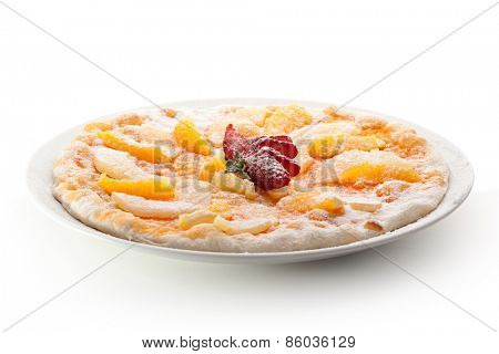 Fruit Pizza made with Orange and Pineapple