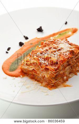 Italian Cuisine - Lasagna with Sauce