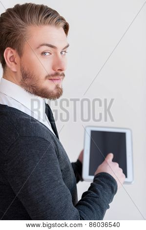 Man With Digital Tablet.