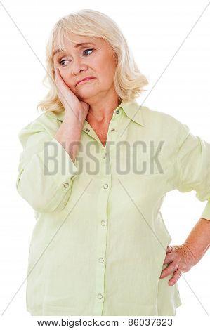 Depressed Senior Woman.