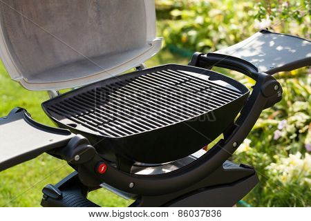 Barbecue grill at outdoor garden