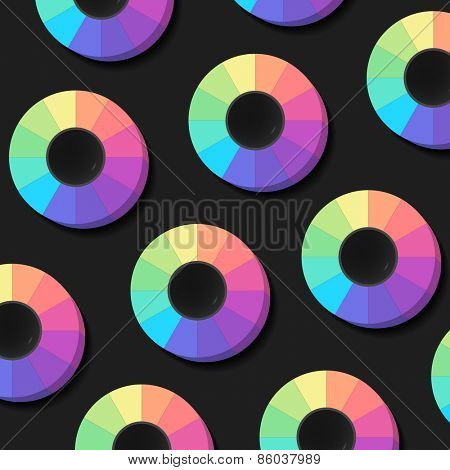 Colour Spectrum Circles, abstract background, vector eps10 illustration