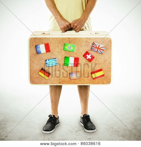 Suitcase With Flags