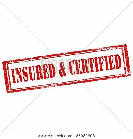Insured & Certified-stamp