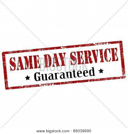 Same Day Service-stamp