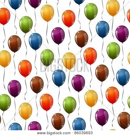 Flying Balloons Background Seamless