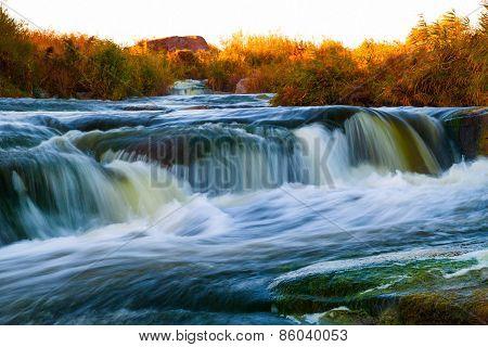 Beautiful Waterfall On The Rapid River