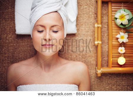 Young woman at beauty salon