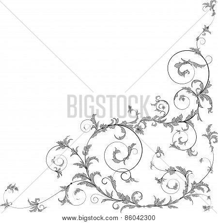 Floral scrolls.
