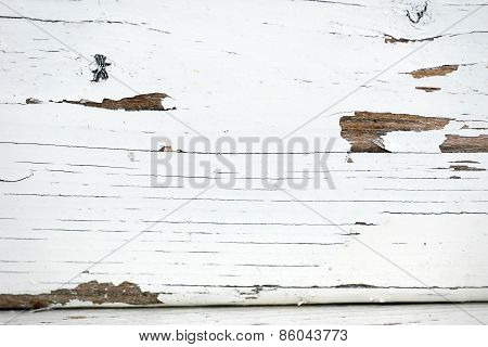 Old White Painted Timber Background