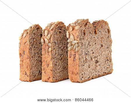 Whole Wheat Bread Isolated On White Background