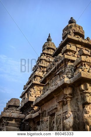 Ancient Shore temple  in  Mahabalipuram