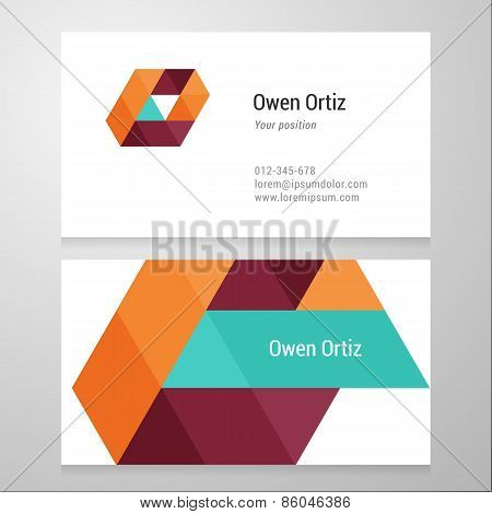 Modern Letter O Business Card Template