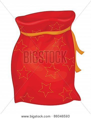 Vector Santa Claus sack.
