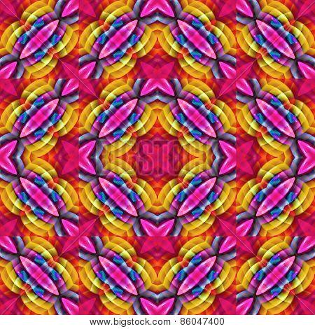 Multicolored Geometric Seamless Pattern