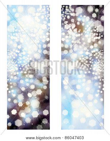 Vector glitter banners.