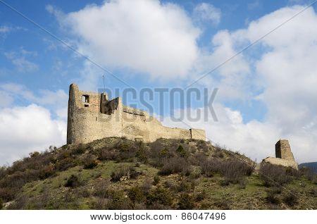 Ruins Of ancient Bebris Tsikhe Fortress Near Mtskheta ,georgia,caucasus,euroasia