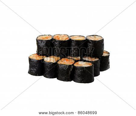 Chinese Steamed Dim Sum Roll Seaweed And Shrimp