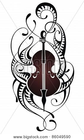 Violin.Music illustration