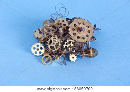 Brass Cooper Bronze Metal Scrap Clock Mechanism Gears For Recycling