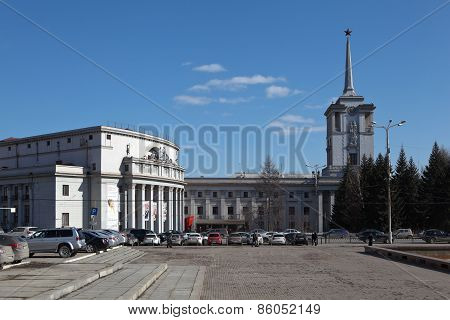YEKATERINBURG, RUSSIA - MARCH 19, 2015: Photo of Area the Russian army.