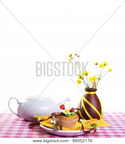 Continental Breakfast On A Colorful Light Background