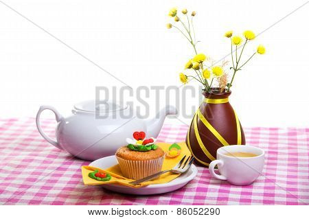 Continental Colorful  Breakfast On A Light Background