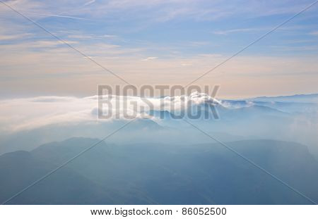 landscape with peaks
