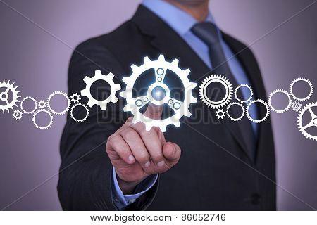 Businessman Touch Screen Concept