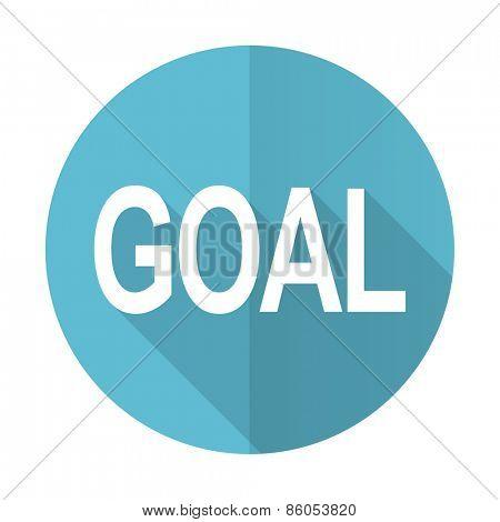 goal blue flat icon