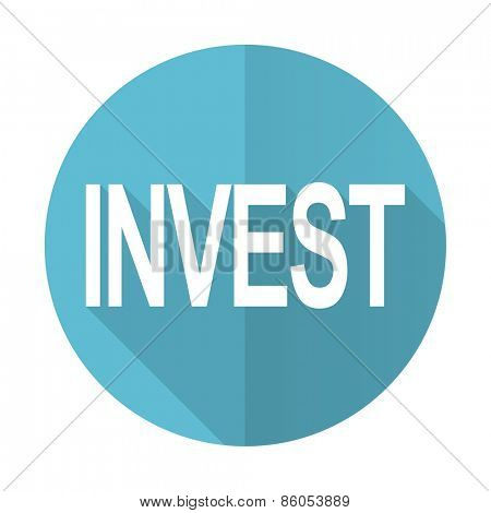 invest blue flat icon