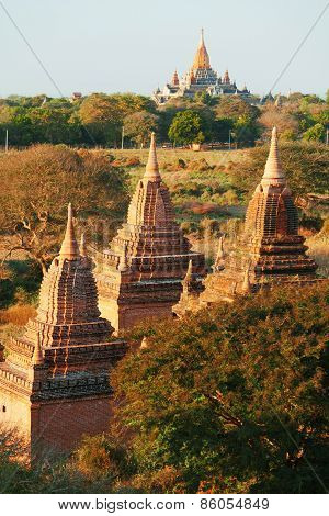 Ancient Pagodas In Bagan, Myanmar
