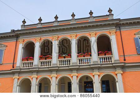 Historical palace. Riva. Emilia-Romagna. Italy.