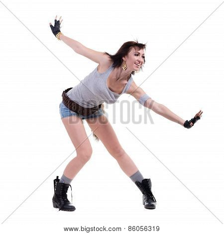 Portrait of a beautiful female dancer posing