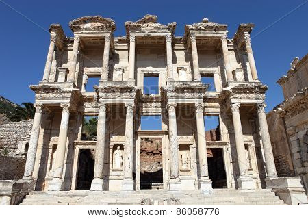 Ephesus Library Of Celcus In Ancient Ephesus, Kusadasi, Turkey