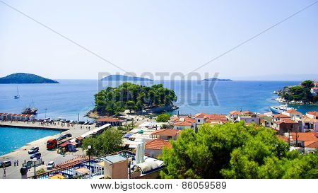 Skiathos town in Skiathos Island, Greece