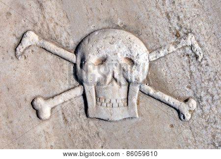 Ancient Pirate Skull And Crossbones.