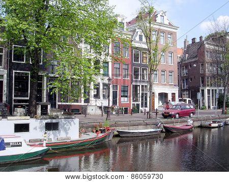 Amsterdam Groenburgwal Canal 2003