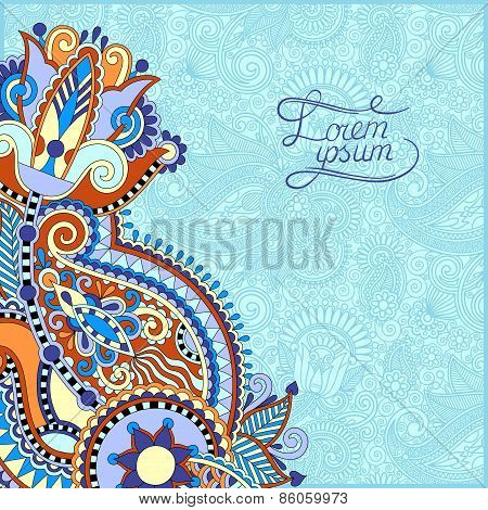 paisley design on decorative floral background