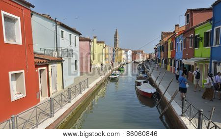 Picturesque Canal In Burano