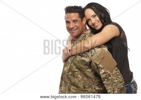 Cheerful Young Couple Embracing
