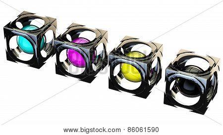 Cubes Cmyk