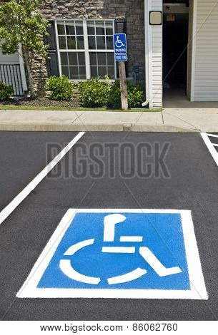 Handicapped Parking Area