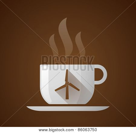 Coffee Cup With A Wind Generator
