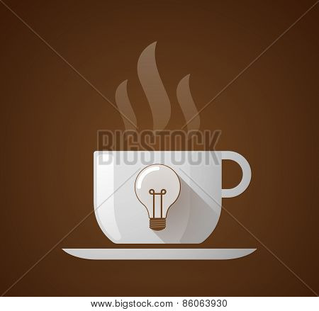 Coffee Cup With A Light Bulb