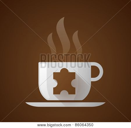 Coffee Cup With A Puzzle Piece